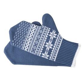 Варежки «Скандик», размер XL, цвет синий