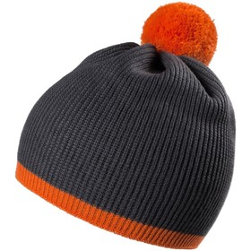 Шапка Amuse, цвет тёмно-серый, оранжевый