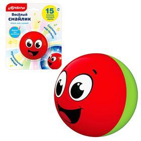 Игрушка музыкальная «Веселый смайлик», цвета красный