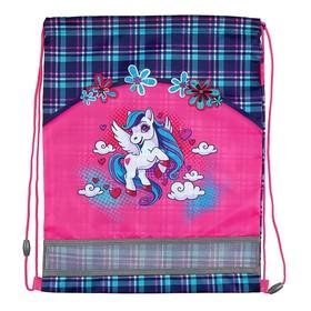 Мешок для обуви 460 х 340 мм Mag Taller EVO, Unicorn, розовый (сетка для вентиляции, высокопрочный полиэстер 100%)