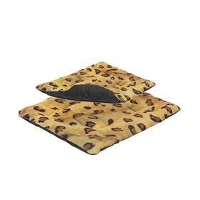 Подстилка 'Лео' стёганая, 50 х 36 х 2,5 см, леопард Ош