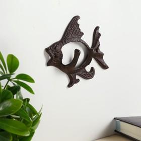 """Крючки декоративные металл """"Рыба"""" 11,5х16х3,5 см"""