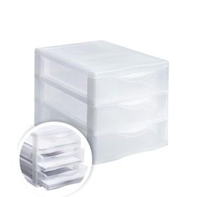 Файл-кабинет 3-секционный СТАММ, сборный, прозрачный УБ20 Ош