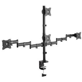 "Кронштейн ARM Media LCD-T16,для 4-х мониторов,наклонно-поворотный,15""-32"",до 4х10 кг,черный"