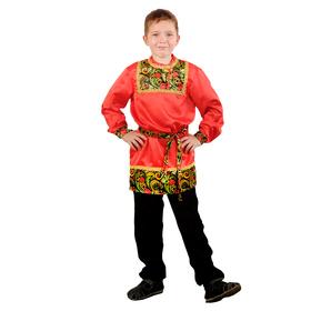 Карнавальная рубаха для мальчика «Рябинушка» с кокеткой, р. 36, рост 146 см Ош