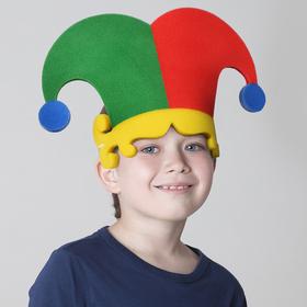 Карнавальная маска Колпак Скомороха на резинке,поролон Ош