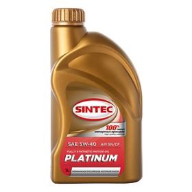 """Масло моторное Sintoil/Sintec 5W-40, """"платинум"""", SN/CF, синтетическое, 1 л"""