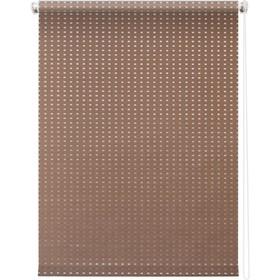 Рулонная штора «Плаза», 48х175 см, цвет коричневый Ош