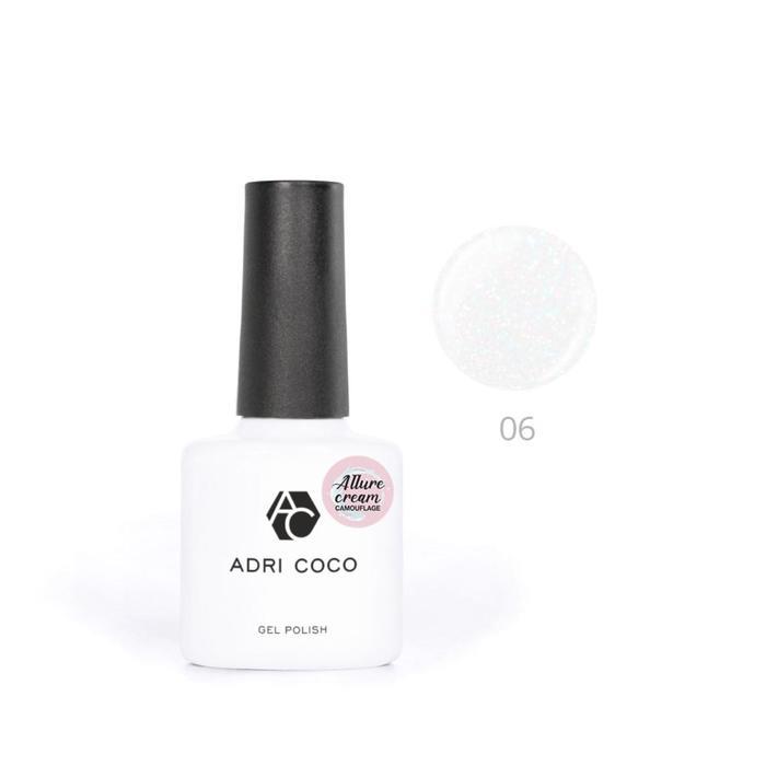 Гель-лак ADRICOCO Allure сream №06 камуфлирующий молочный с шиммером, 8 мл