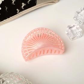 Краб для волос 'Белый туман' веер 6 см Ош