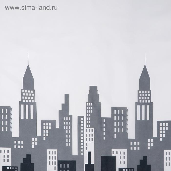"""Штора для ванной 180×180 см """"Город"""", полиэстер"""