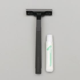 Бритва Стандарт с двумя нержавеющими лезвиями и крем для бритья 3 гр. Ош