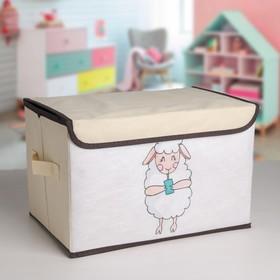 Короб для хранения с крышкой «Овечка», 38×25×24 см Ош