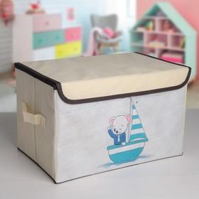 Короб для хранения с крышкой «Морячок», 38×25×24 см Ош