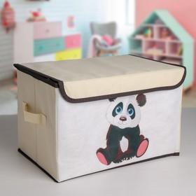 Короб для хранения с крышкой «Малыш панда», 39×25×25 см Ош