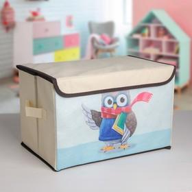 Короб для хранения с крышкой «Умная сова», 39×25×25 см Ош