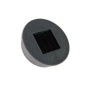 Крышка для банки светодиодная на солнечной батарее ( горловина 70мм ) 1 LED, 6500 K, 300 мАч Ош