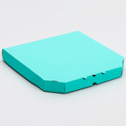 Коробка для пиццы, мятная, 30 х 30 х 3,5 см