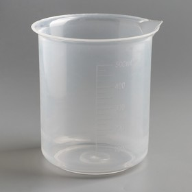 Стакан мерный со шкалой, Н – 500 мл (ПП)
