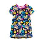Платье для девочки, рост 104, перья
