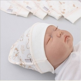 Шапочка на манжете «Ассорти», возраст 0-3 месяцев, 5 шт.