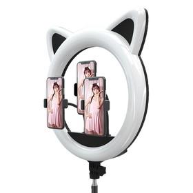 Кольцевая лампа OKIRA LED RING 408, 65 Вт, 408 светодиодов, d=49,5 см, + штатив, чёрная