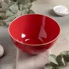 Миска суповая 700 мл, d=16 см, цвет красный