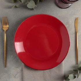 Тарелка плоская d=24 см, цвет красный