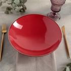 Чаша для салата d=26 см, цвет красный