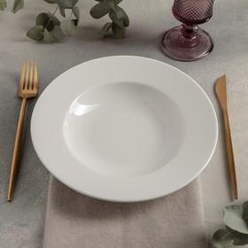 Тарелка глубокая «Prime», 300 мл, d=23 см, цвет белый