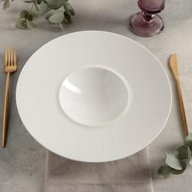 Тарелка гурме с широким римом «Prime», d=28 см (d=12 см), 200 мл «Prime», цвет белый