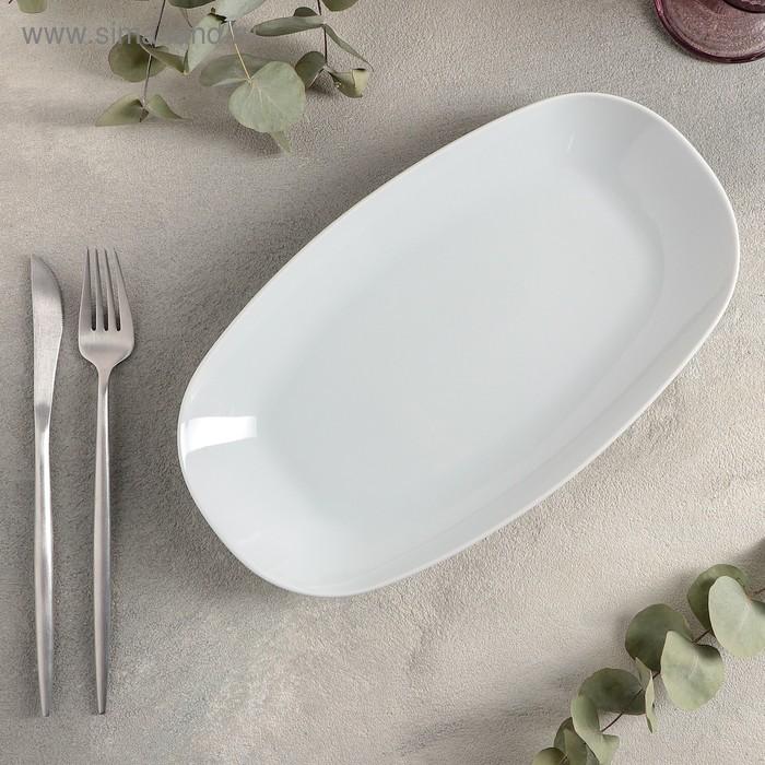 Тарелка овальная «Lebon», 29×16 см, цвет белый
