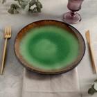 Тарелка плоская «Fervido», d=27 см, цвет зелёный - Фото 2