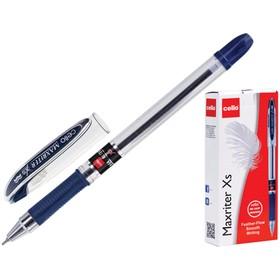 """Ручка шариковая Cello """"Maxriter XS"""" 0,7 мм, грип, синий стержень"""