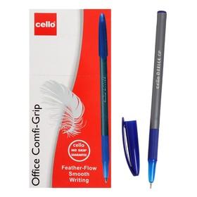 Ручка шариковая Cello Office Grip узел 1.0мм, чернила синие, грип 353