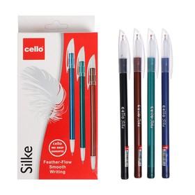 Ручка шариковая Cello 'Silke' узел 0.7мм, чернила синие, микс 3В 745 Ош