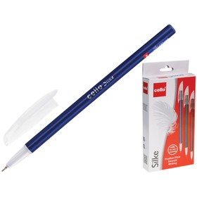 Ручка шариковая Cello Silke узел 0.7мм, чернила синие, микс 3В 745