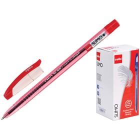 """Ручка шариковая Cello """"Slimo"""" узел 1.0мм, чернила красные 349"""