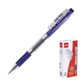 """Ручка шариковая автоматическая Cello """"Joy"""" 0,7 мм, грип, стержень синий"""