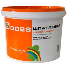 Шпатлёвка  'Радуга 0026', ЛЮКС 1,5 кг Ош