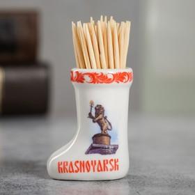 Сувенир для зубочисток в форме валенка «Красноярск» Ош