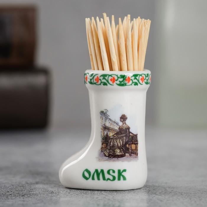 Сувенир для зубочисток в форме валенка Омск