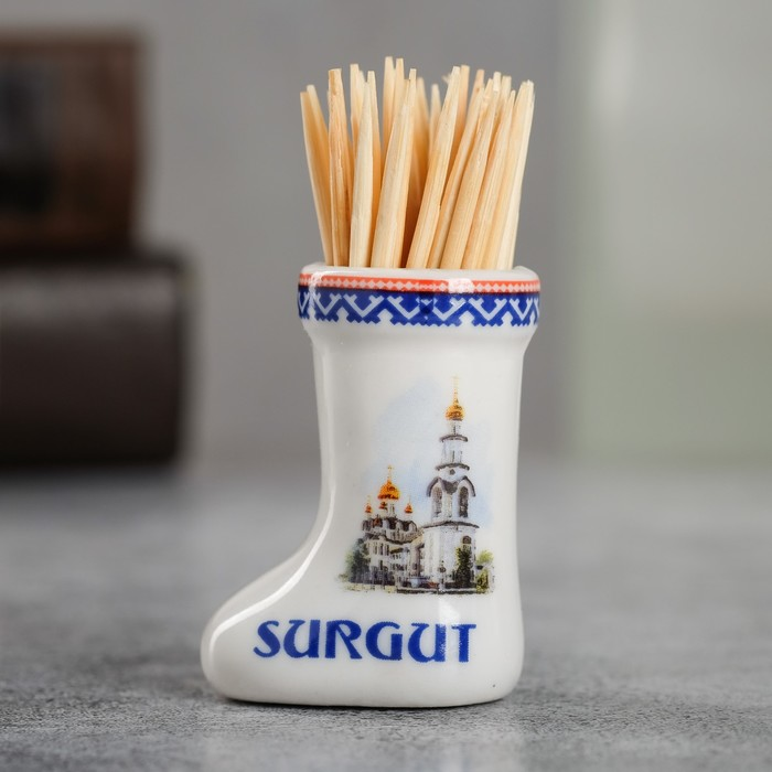 Сувенир для зубочисток в форме валенка Сургут