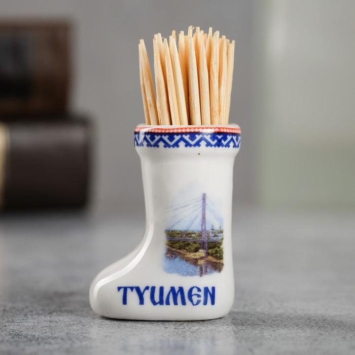 Сувенир для зубочисток в форме валенка Тюмень
