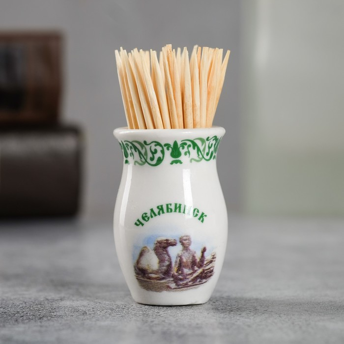 Сувенир для зубочисток в форме кувшина Челябинск