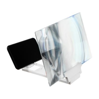 """Увеличительное стекло для телефона LuazON, 12"""", эффект телевизора, складное, черное"""