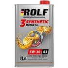 Масло моторное Rolf 5W30, 3-Synthetic, A3/B4, синтетическое, 1 л
