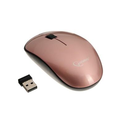 Мышь Gembird MUSW-111-RG, беспроводная,оптическая, 1200 dpi, 1xAA, USB, цвет розовое золото