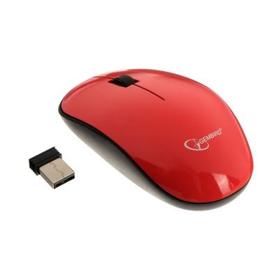 Мышь Gembird MUSW-111-CRL, беспроводная, оптическая, 1200 dpi, 1xAA, USB, цвет коралловый