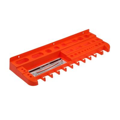 Полка для инструмента Stels 90718, 475 мм, оранжевая, полипропилен
